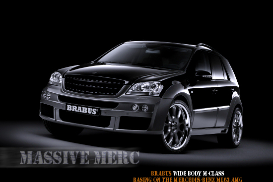 Brabus Mercedes ML63 AMG wide body conversion