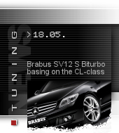 Brabus SV12 S Biturbo Coupe based on the CL-class