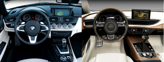 BMW Z4 and Audi Sportback Concept Dashboards