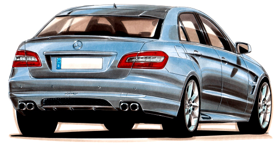 All-new Mercedes E-class W212 by Lorinser - Drawing